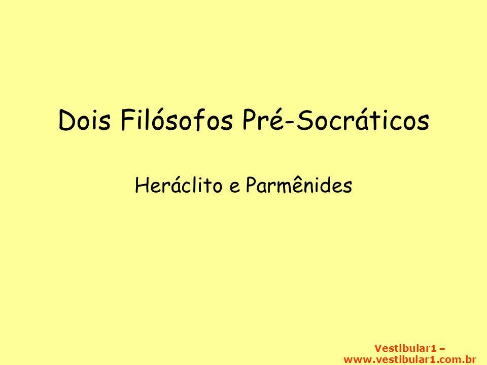 Dois Filósofos Pré-Socráticos