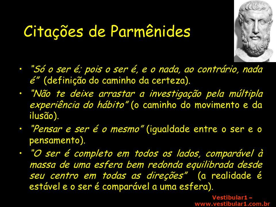 Citações de Parmênides