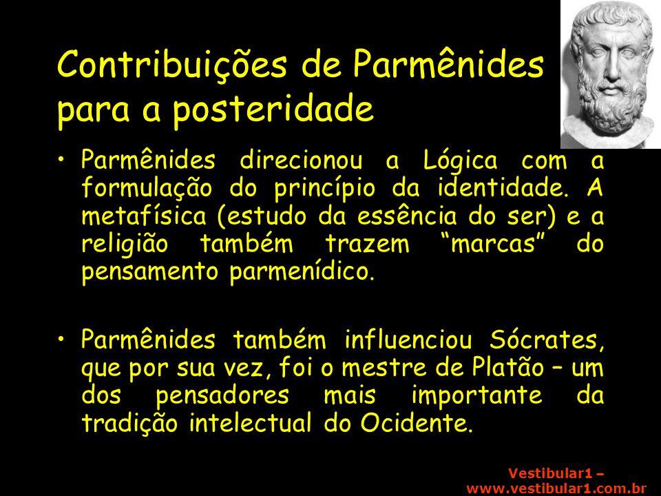 Contribuições de Parmênides para a posteridade