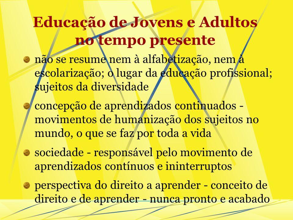Educação de Jovens e Adultos no tempo presente