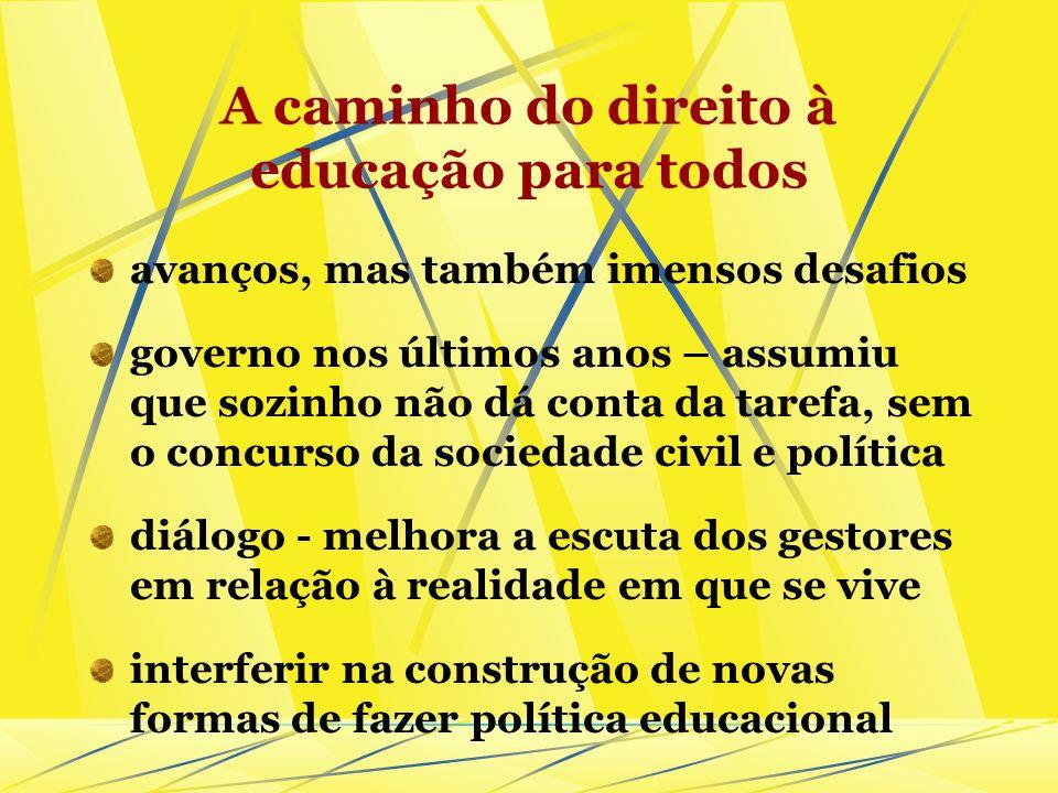 A caminho do direito à educação para todos