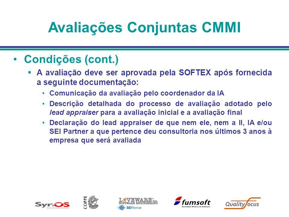 Avaliações Conjuntas CMMI