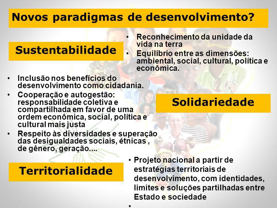 Sustentabilidade Solidariedade Territorialidade