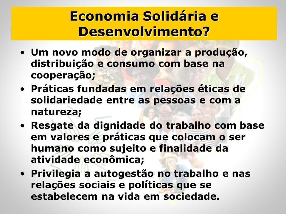 Economia Solidária e Desenvolvimento