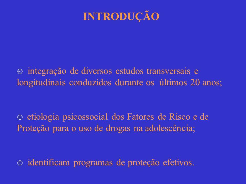 INTRODUÇÃO  integração de diversos estudos transversais e longitudinais conduzidos durante os últimos 20 anos;