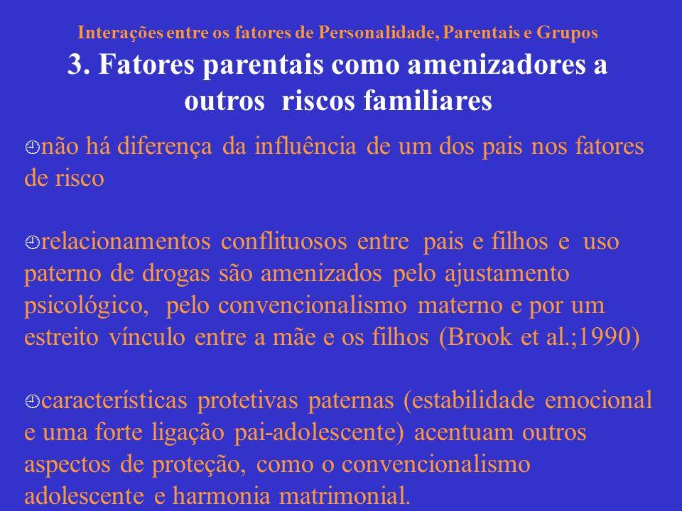 3. Fatores parentais como amenizadores a outros riscos familiares