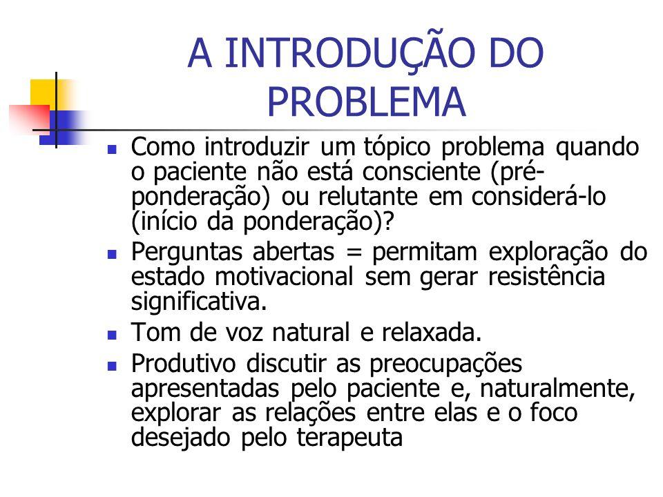 A INTRODUÇÃO DO PROBLEMA