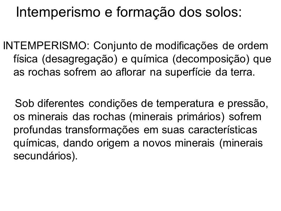 Intemperismo e formação dos solos: