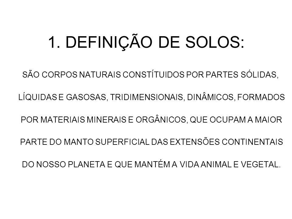 1. DEFINIÇÃO DE SOLOS: