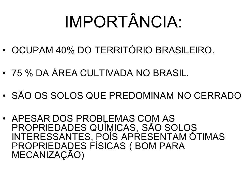 IMPORTÂNCIA: OCUPAM 40% DO TERRITÓRIO BRASILEIRO.