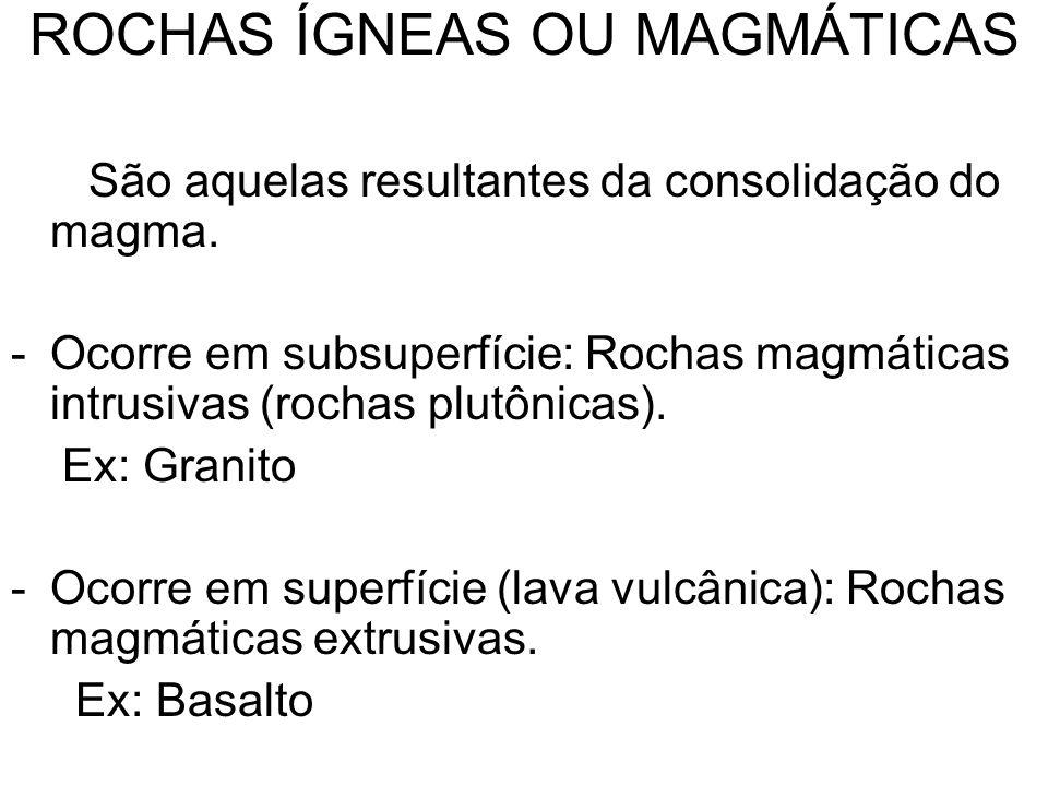 ROCHAS ÍGNEAS OU MAGMÁTICAS