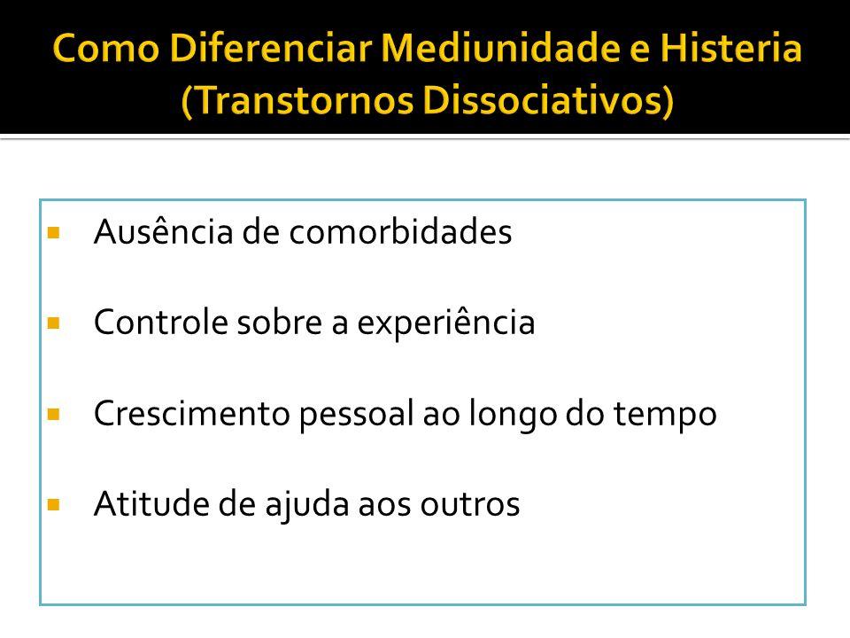Como Diferenciar Mediunidade e Histeria (Transtornos Dissociativos)