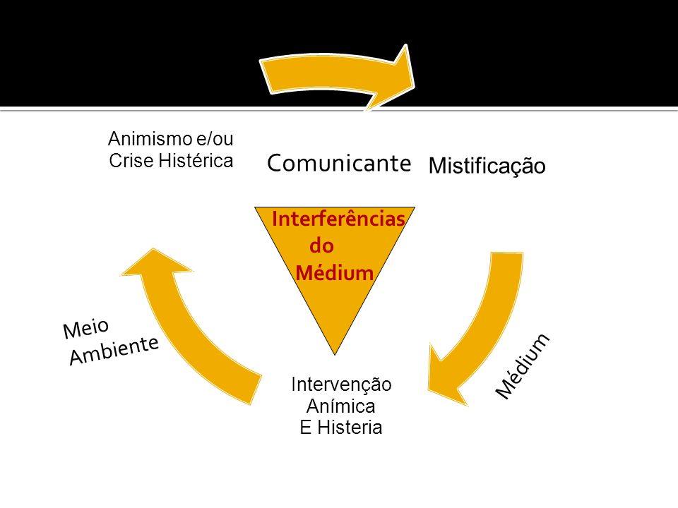 Comunicante Mistificação Interferências do Médium Meio Ambiente Médium