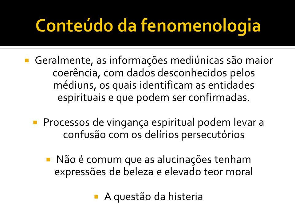 Conteúdo da fenomenologia