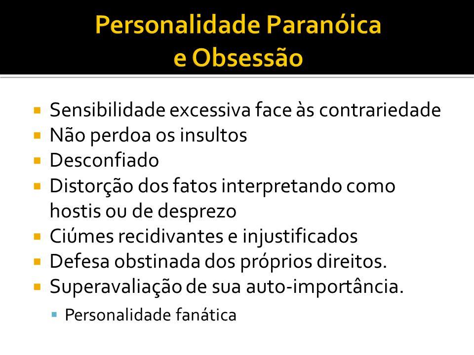 Personalidade Paranóica e Obsessão
