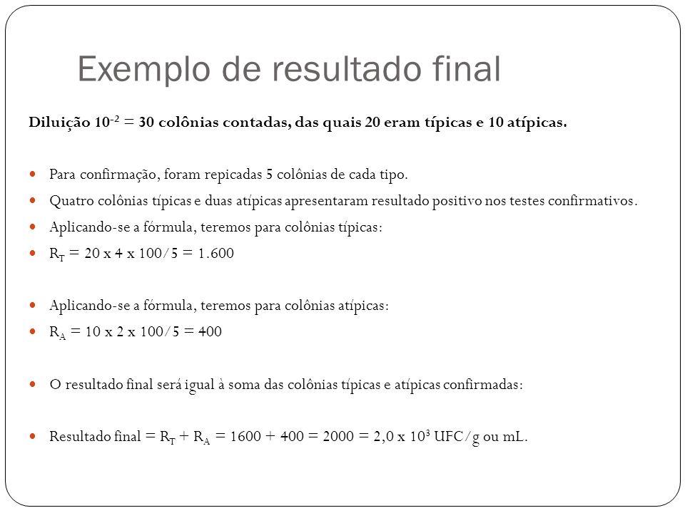 Exemplo de resultado final