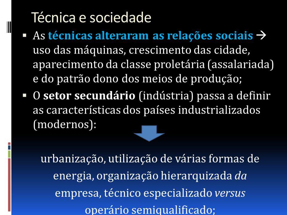 Técnica e sociedade