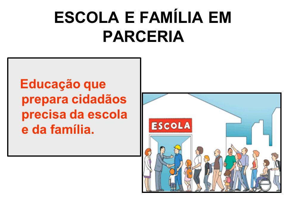 ESCOLA E FAMÍLIA EM PARCERIA
