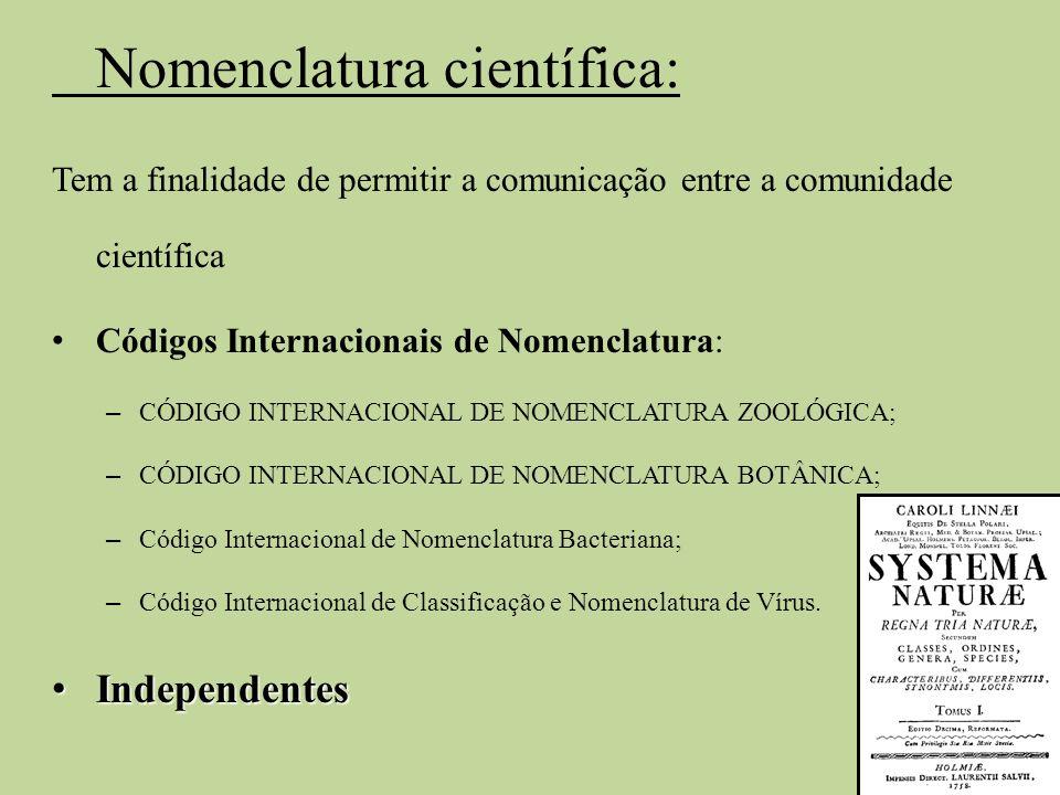 Nomenclatura científica: