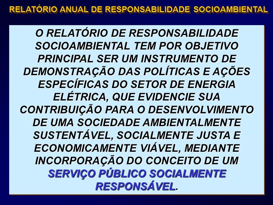 RELATÓRIO ANUAL DE RESPONSABILIDADE SOCIOAMBIENTAL