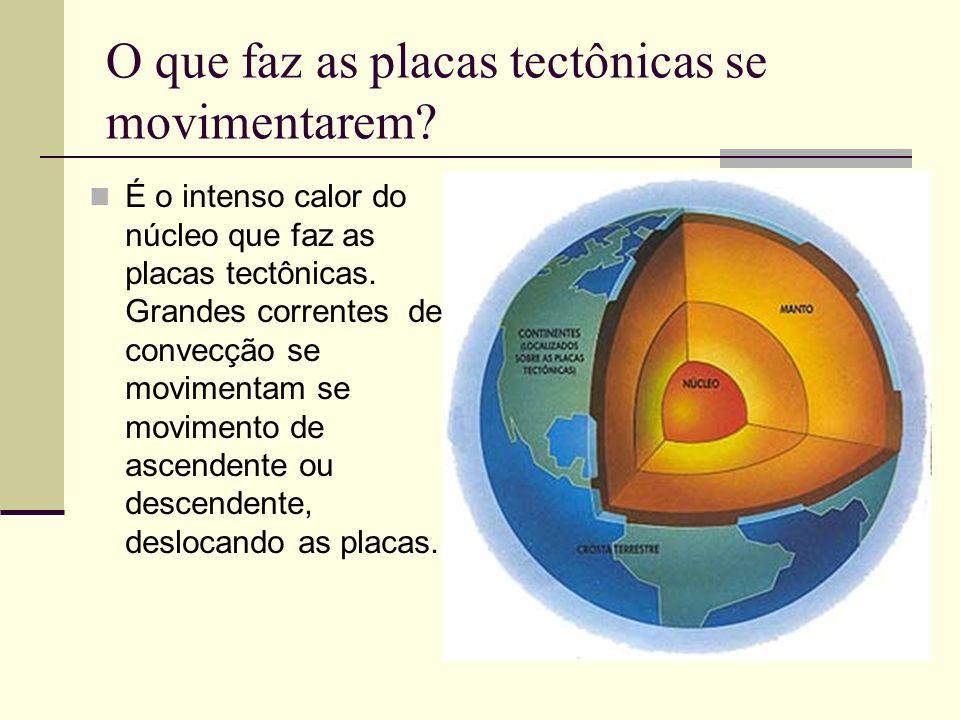 O que faz as placas tectônicas se movimentarem