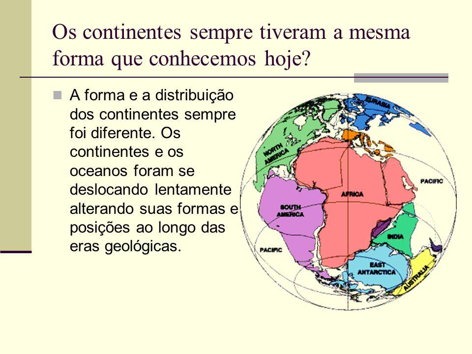 Os continentes sempre tiveram a mesma forma que conhecemos hoje