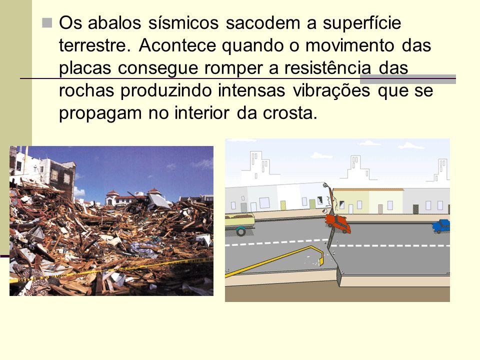 Os abalos sísmicos sacodem a superfície terrestre