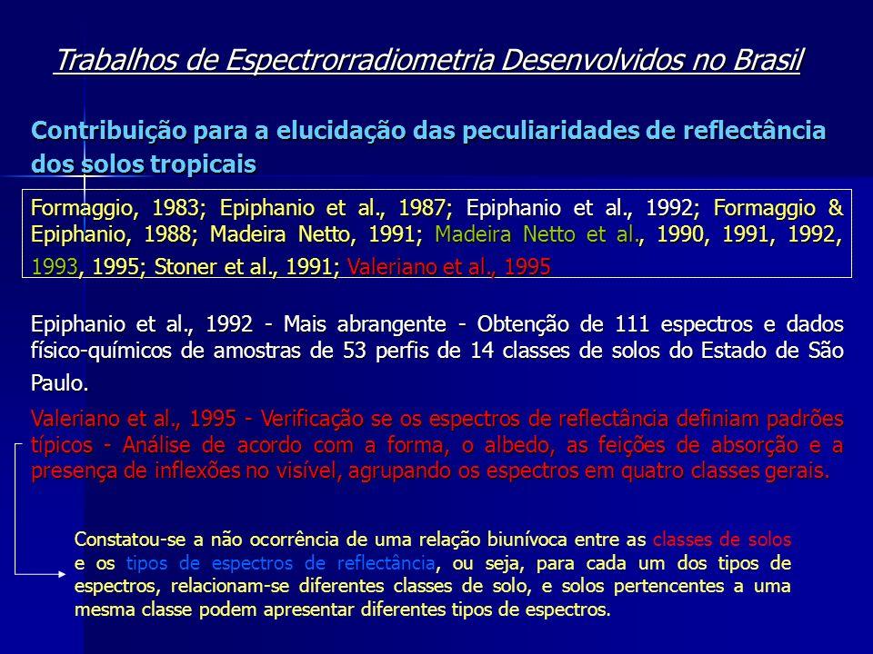 Trabalhos de Espectrorradiometria Desenvolvidos no Brasil
