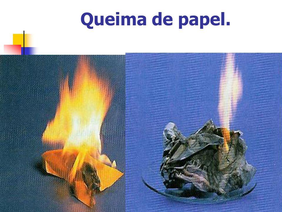 Queima de papel.