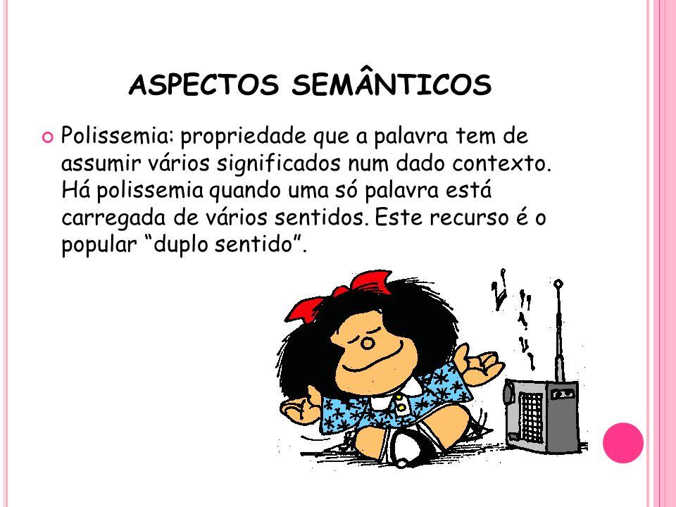 ASPECTOS SEMÂNTICOS