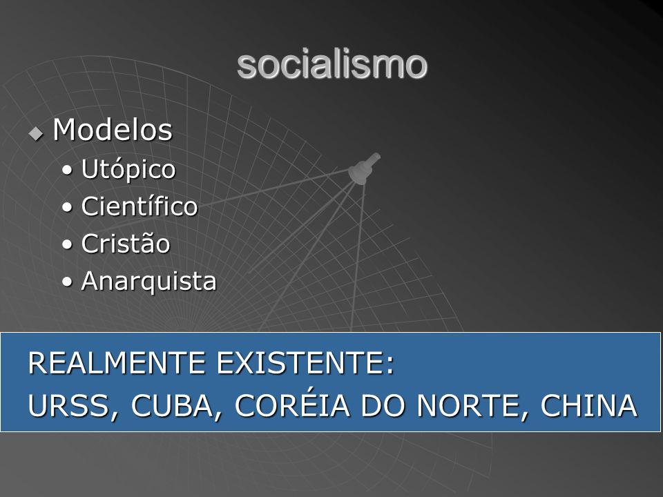 socialismo Modelos REALMENTE EXISTENTE: