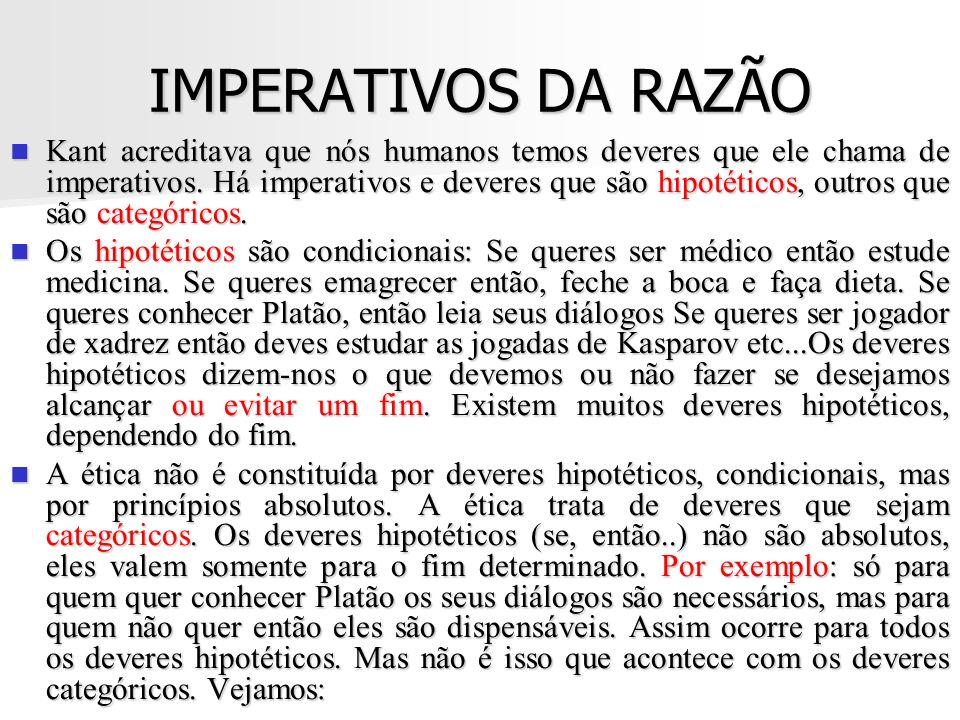 IMPERATIVOS DA RAZÃO