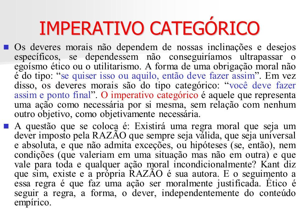 IMPERATIVO CATEGÓRICO
