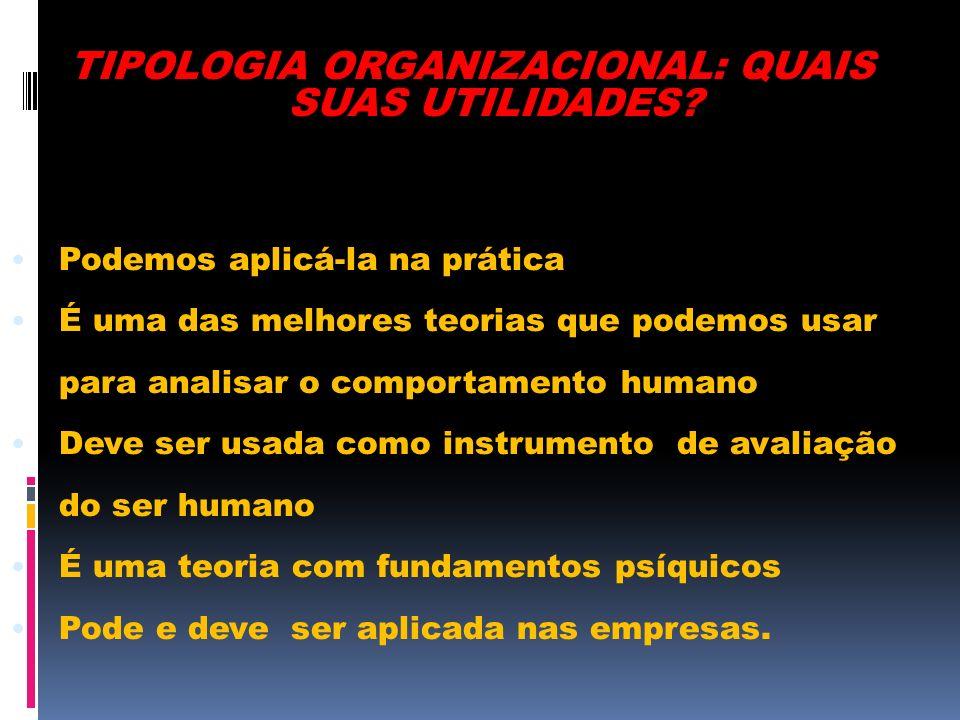 TIPOLOGIA ORGANIZACIONAL: QUAIS SUAS UTILIDADES