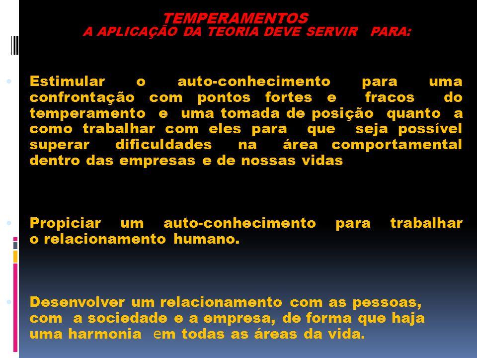 A APLICAÇÃO DA TEORIA DEVE SERVIR PARA: