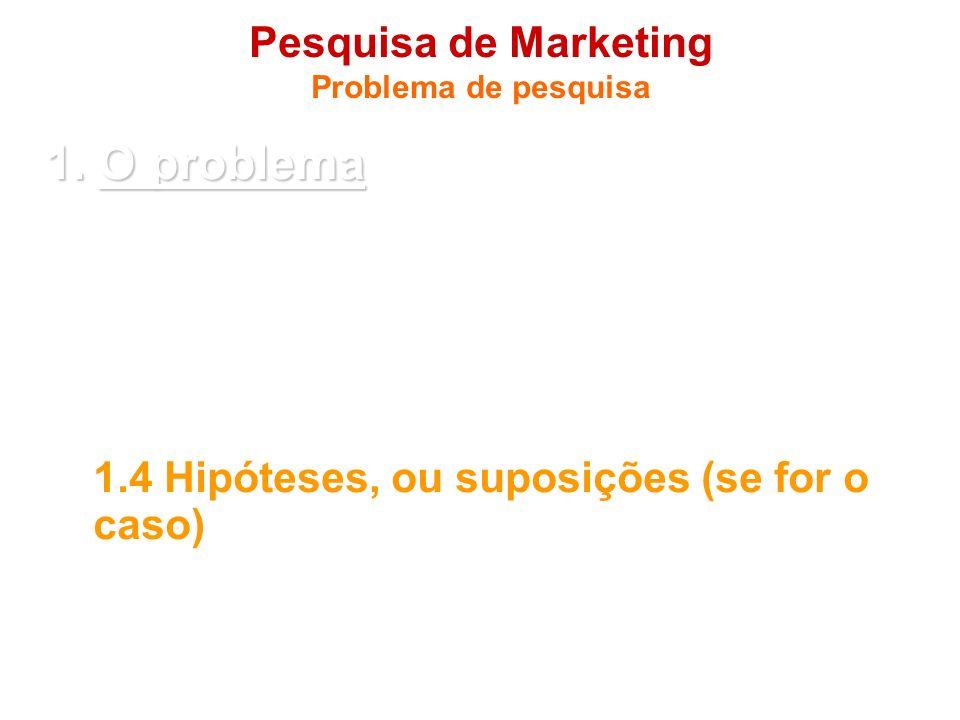 Pesquisa de Marketing Problema de pesquisa