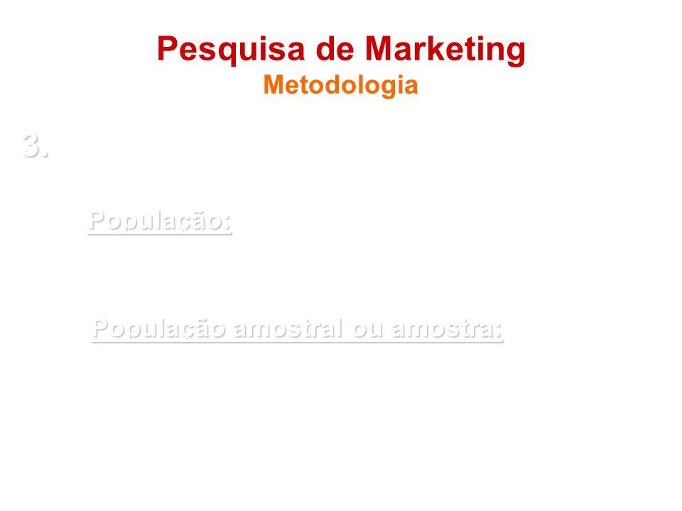 Pesquisa de Marketing Metodologia