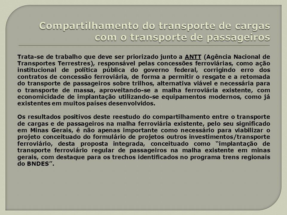 Compartilhamento do transporte de cargas com o transporte de passageiros
