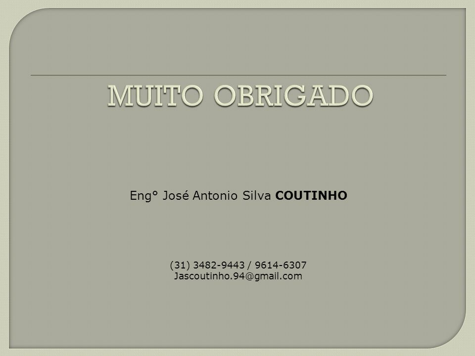 Eng° José Antonio Silva COUTINHO