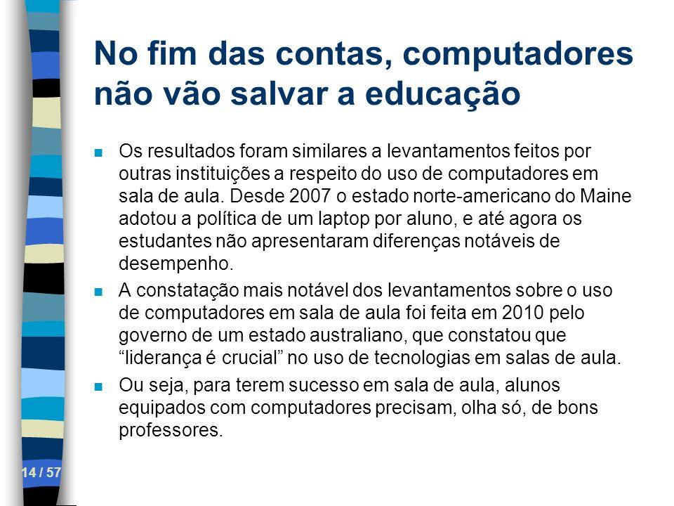 No fim das contas, computadores não vão salvar a educação