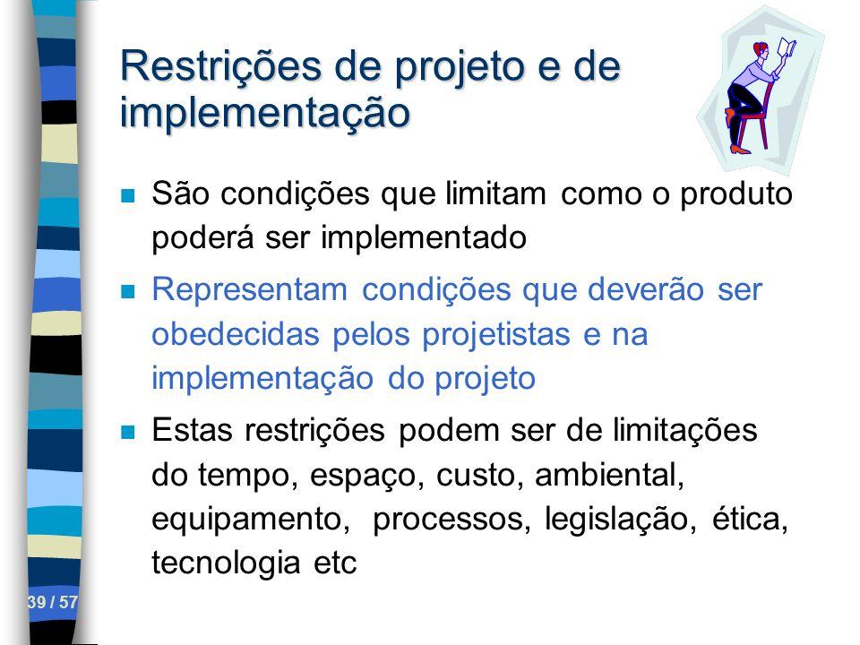 Restrições de projeto e de implementação