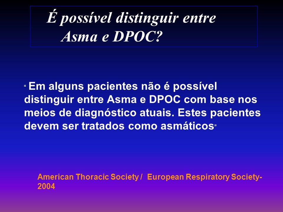 É possível distinguir entre Asma e DPOC