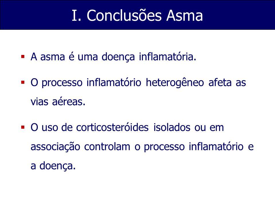 I. Conclusões Asma A asma é uma doença inflamatória.