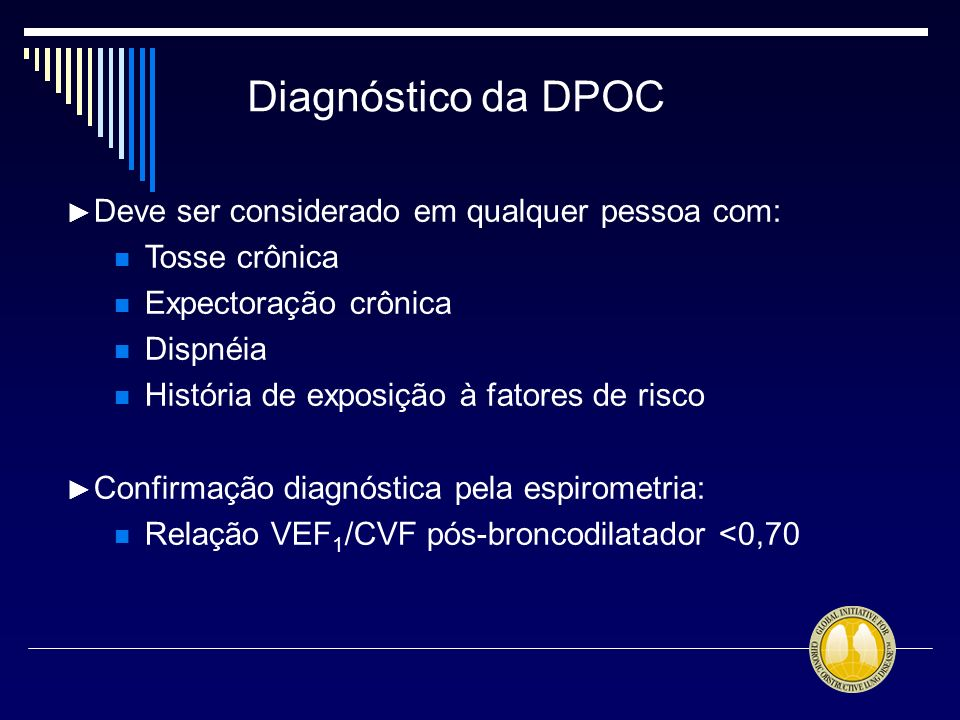 Diagnóstico da DPOC Tosse crônica Expectoração crônica Dispnéia
