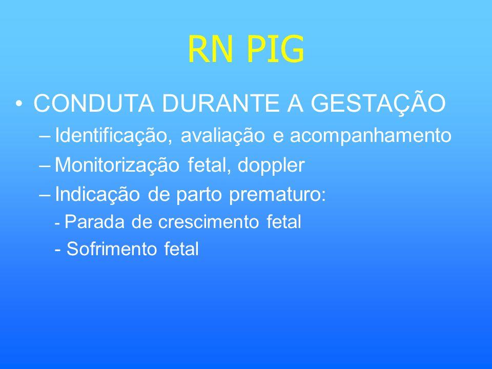 RN PIG CONDUTA DURANTE A GESTAÇÃO