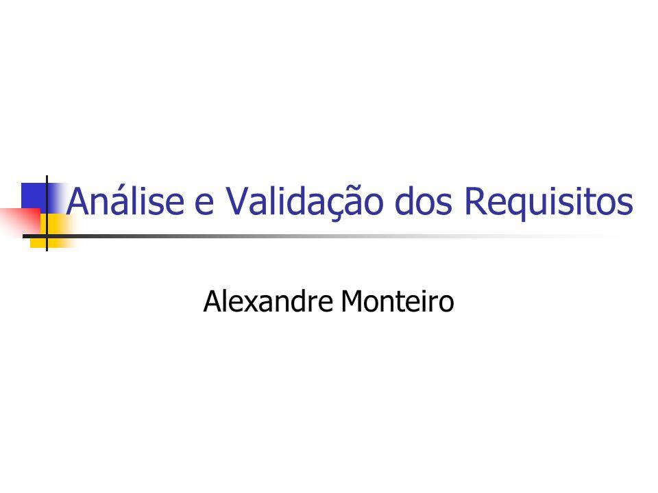 Análise e Validação dos Requisitos