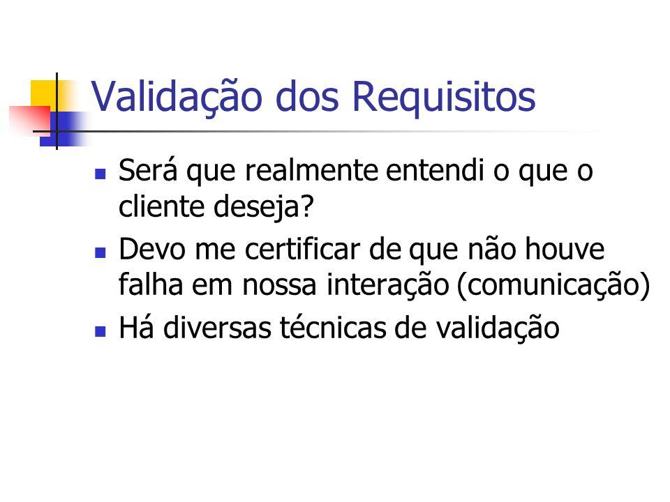 Validação dos Requisitos