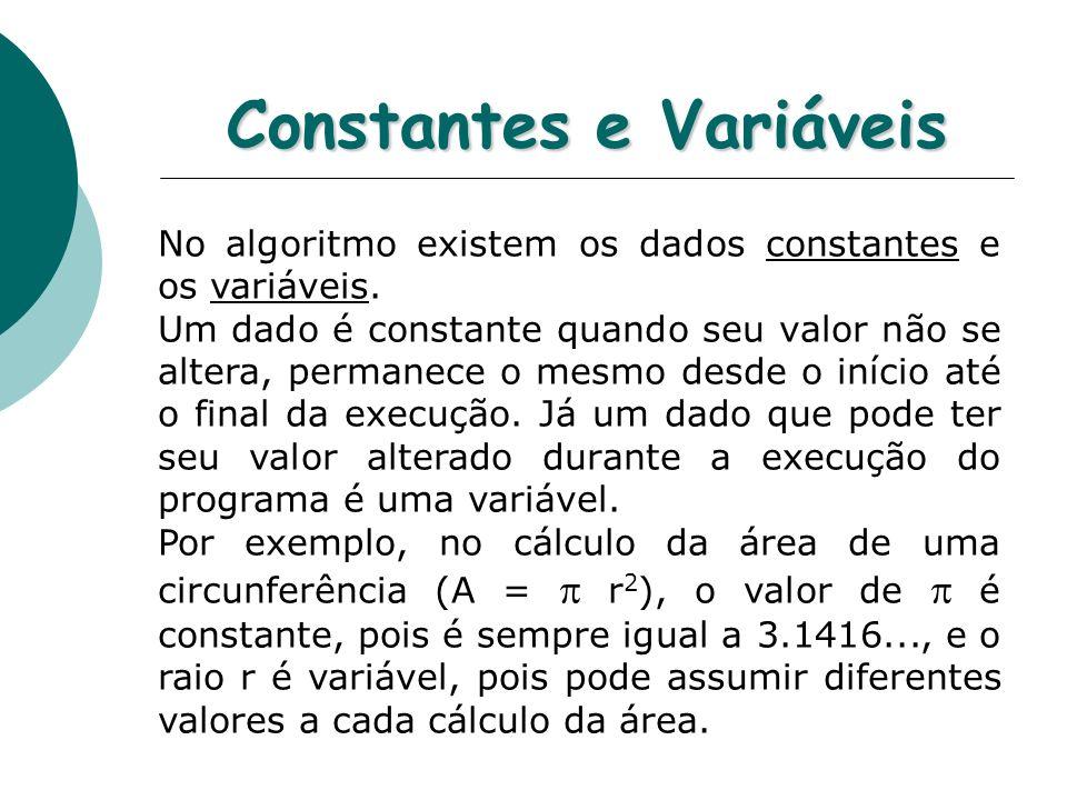 Constantes e Variáveis
