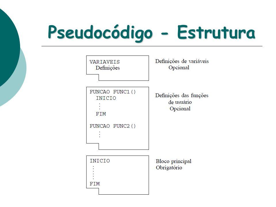 Pseudocódigo - Estrutura