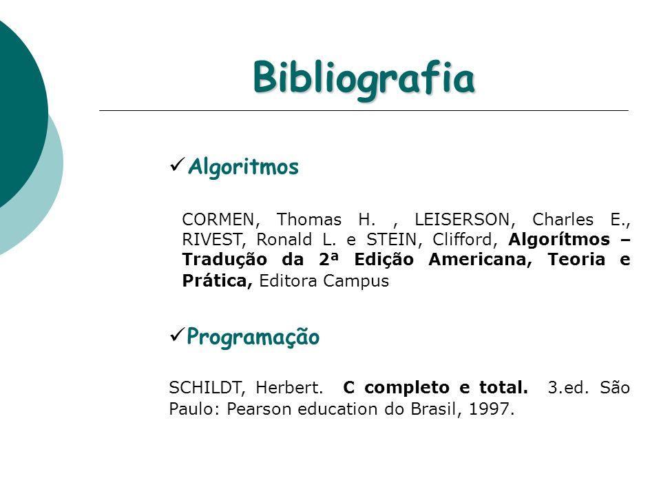 Bibliografia Algoritmos Programação